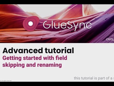 Advance tutorial GlueSync